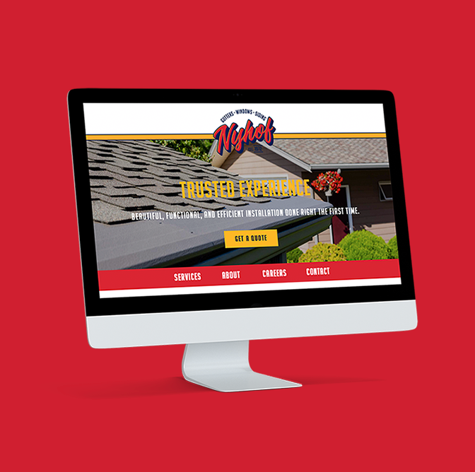 Nyhof Windows and Gutters Branding & Identity Website Design Engaged Marketing
