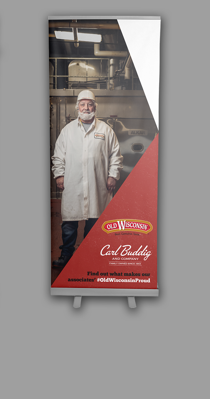 Old Wisconsin Proud Engaged Marking Campaign Banner Stand_2