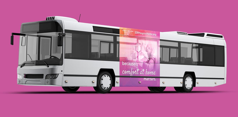 Sharon S. Richardson Community Hospice Campaign Bus Ad Engaged Marketing